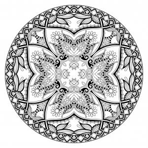 Coloriage adulte mandala par karakotsya 1