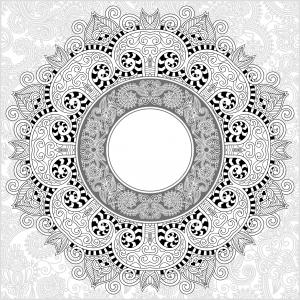 Coloriage adulte mandala par karakotsya 2