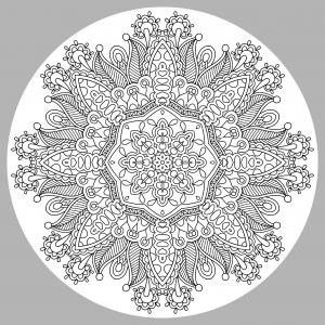 Coloriage adulte mandala par karakotsya 3