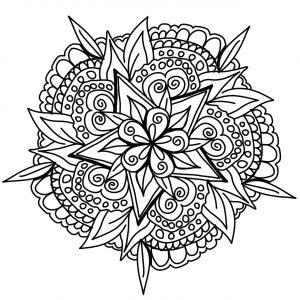 Magnifique Mandala dessiné à la main