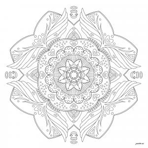 Mandala avec petits anges