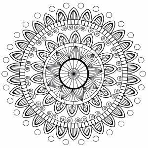 Mandala avec pétales
