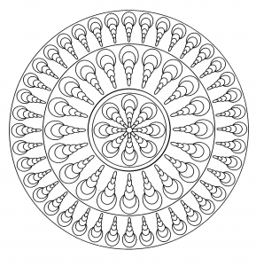 coloriage mandala facile 4