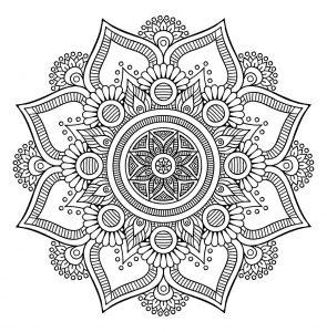 Coloriage Mandala Complique.Mandalas Coloriages Difficiles Pour Adultes