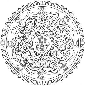 Mandalas coloriages difficiles pour adultes - Coloriage main de fatma ...