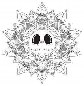 Mandala de Jack Skellington