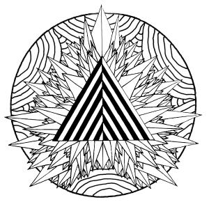 coloriage-mandala-triangle-mystique free to print