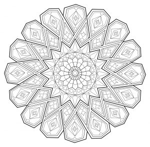coloriage mandala zen antistress 1