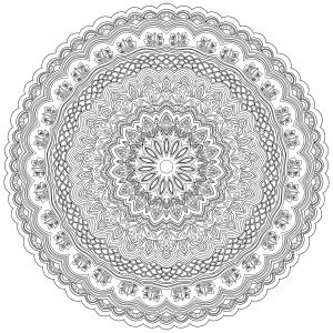 Coloriage mandala zen antistress 10