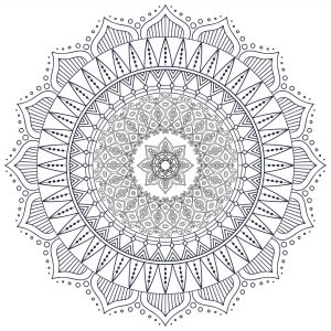 Coloriage mandala zen antistress 7