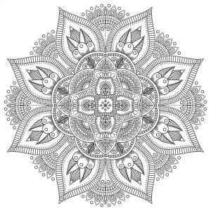 Coloriage mandala zen antistress 8