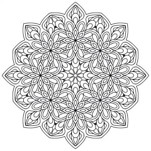 Coloriage mandala zen antistress 9