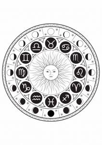 coloriage-signe-astrologique-mandala-par-louise free to print