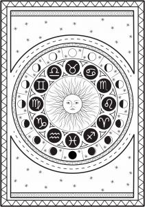 Coloriage signe astrologique par louise copie