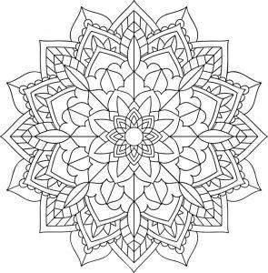 Mandala floral simple