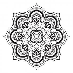 mandala a telecharger et colorier fleur free to print