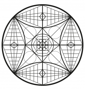 Mandala complexe abstrait