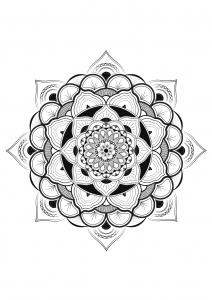 Mandala fleur par louise