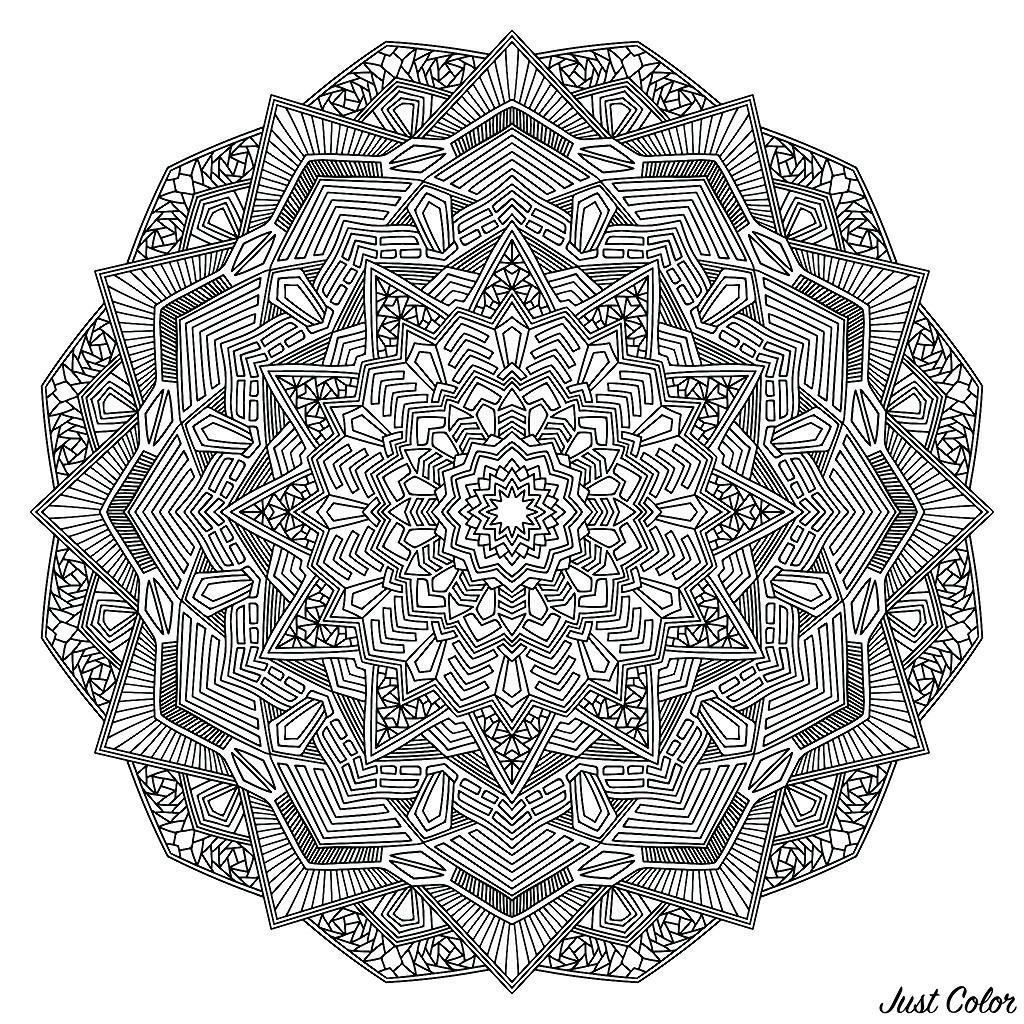 Grande complexité au rendez-vous pour ce beau Mandala