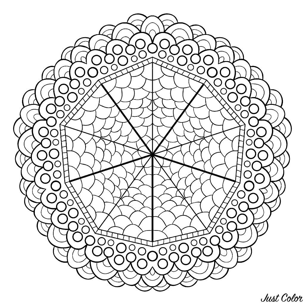 Un Mandala assez simple aux motifs réguliers