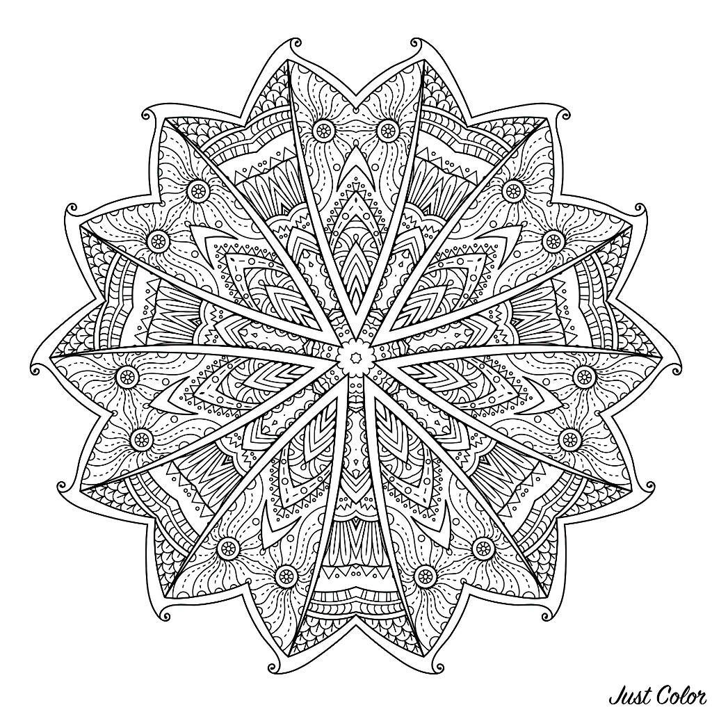 Mandala Etoile Mandalas Coloriages Difficiles Pour Adultes