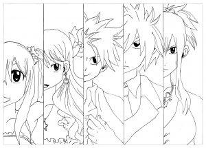 Coloriage manga fairy tail krissy
