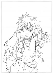 Coloriage manga rayne neo angelique abyss krissy