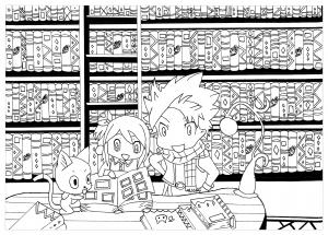 Coloriage manga chibi fairy tail krissy