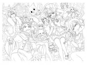Coloriage personnages manga par tobeyd