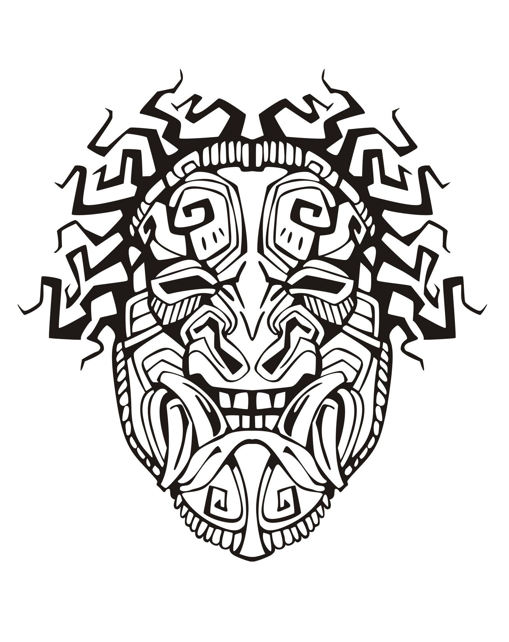 Masque inspiration inca maya azteque 1