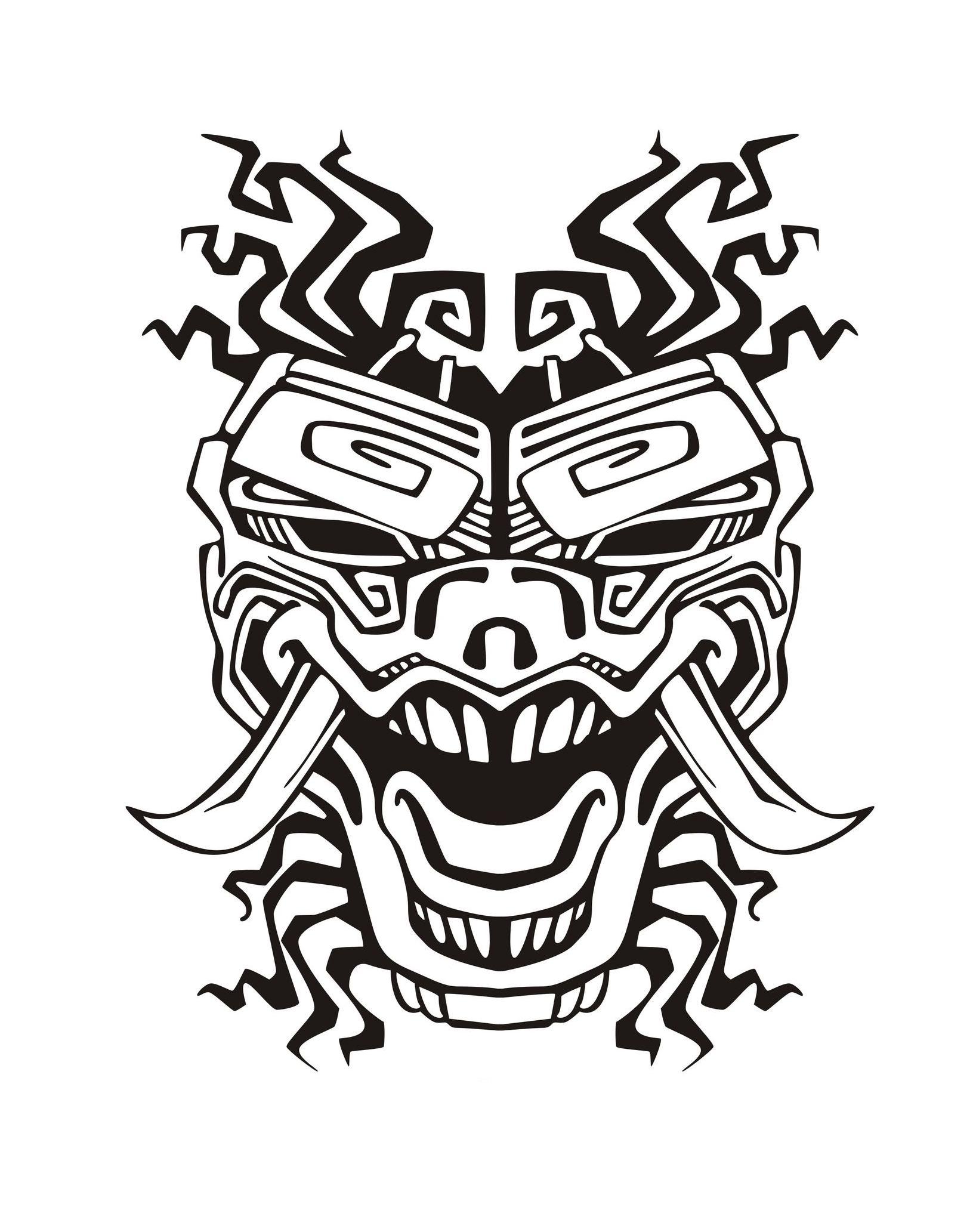 Masque inspiration inca maya azteque 2