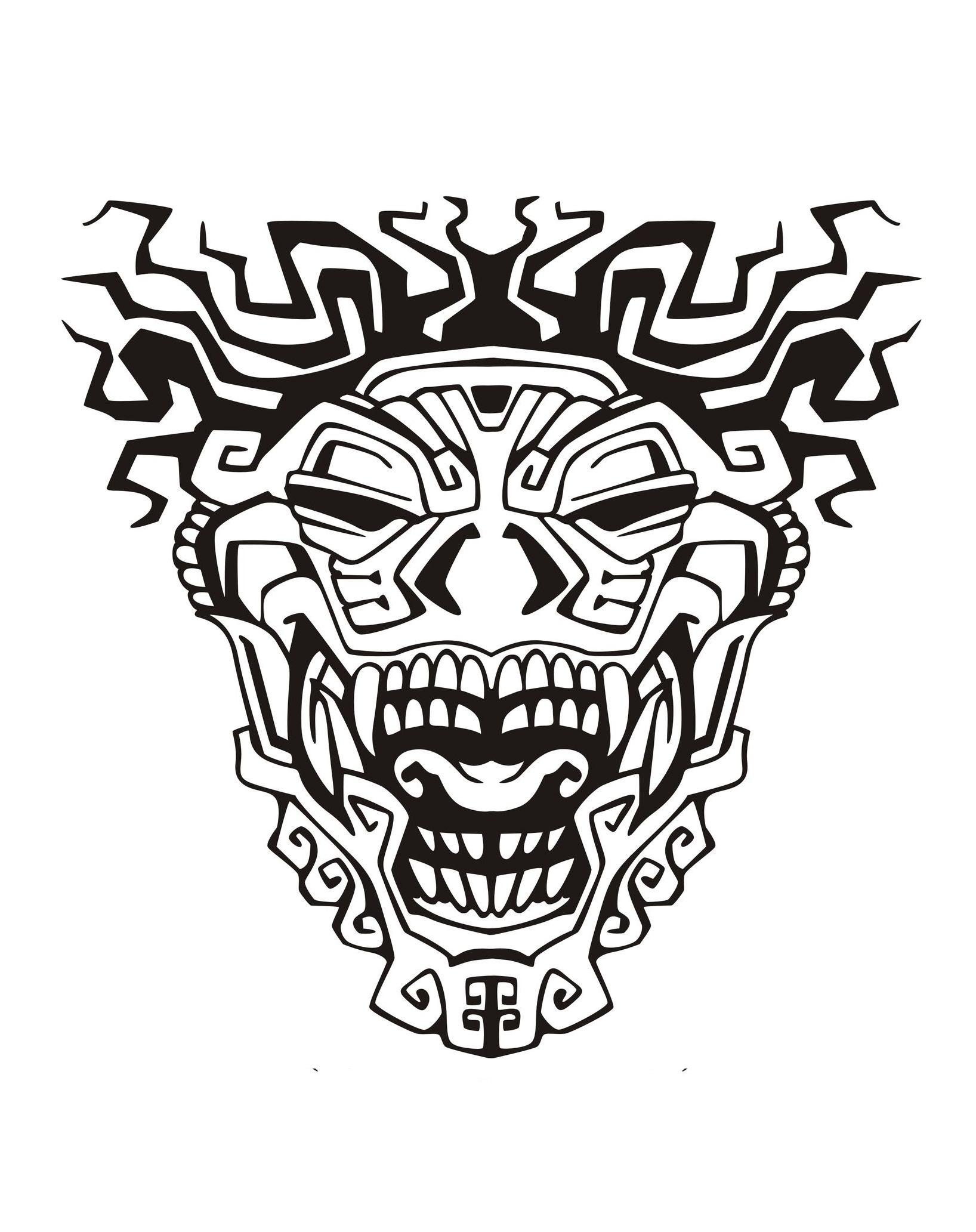 Masque inspiration inca maya azteque 3