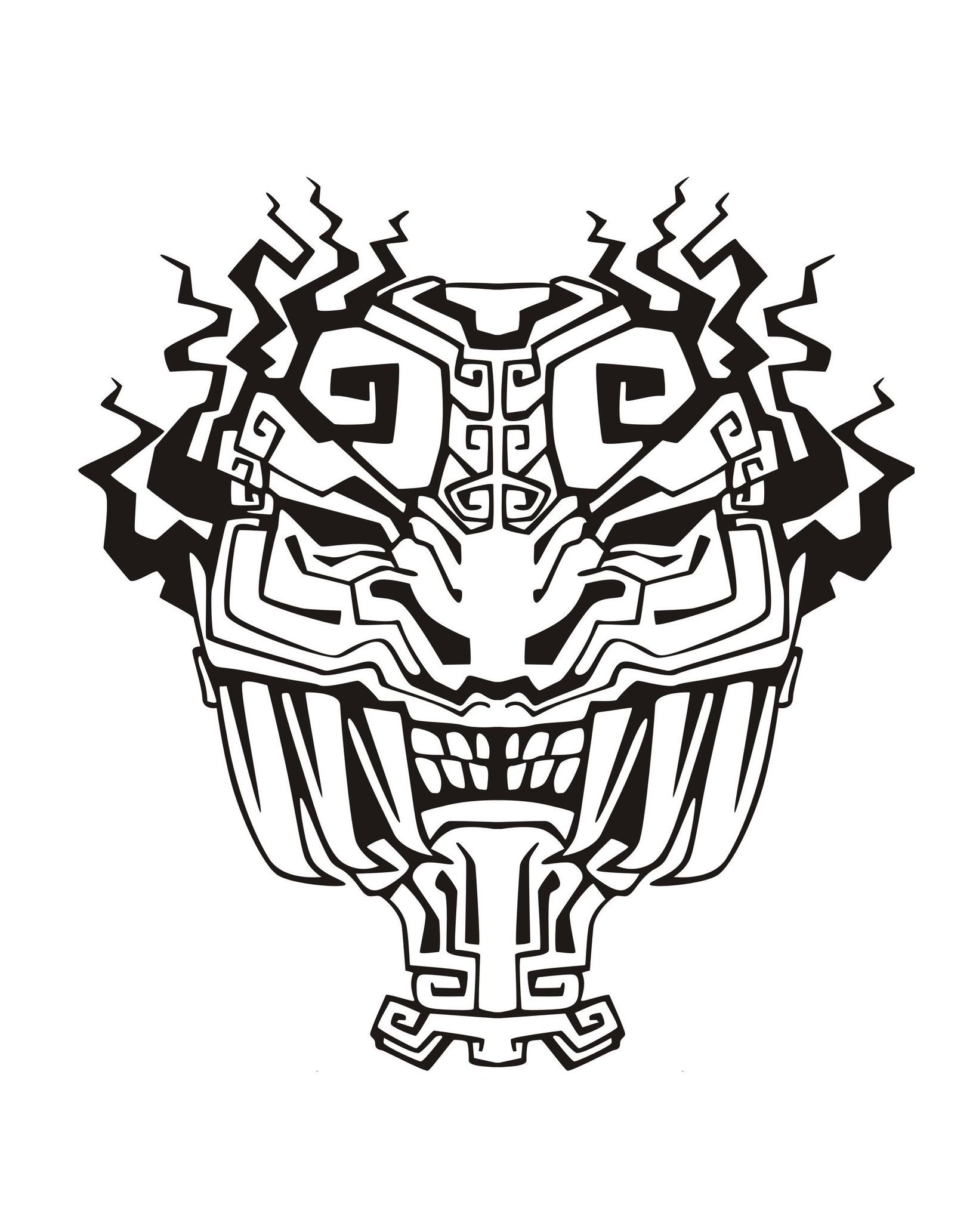 Masque inspiration inca maya azteque 4