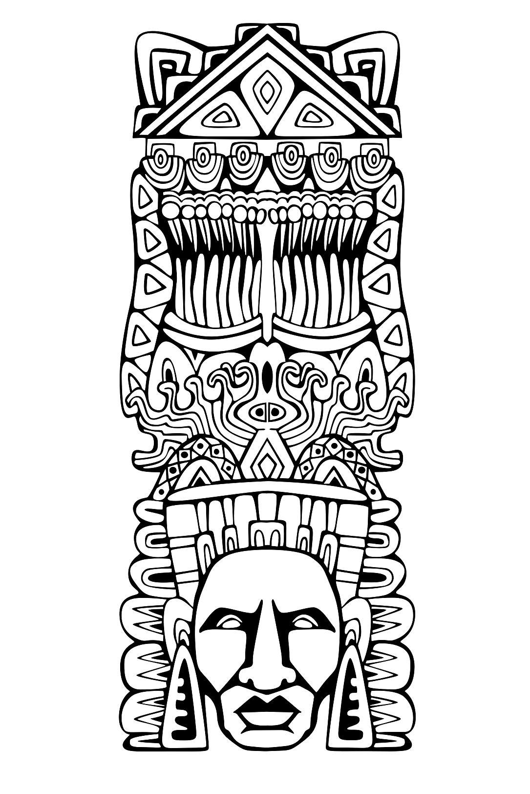 Totem inspiration inca maya azteque 1