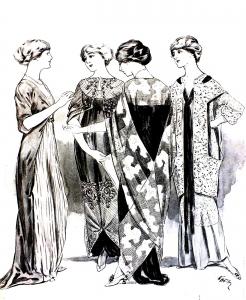 Coloriage adulte gravure mode 1915 femina