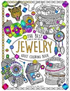Coloriage livre bijoux couverture