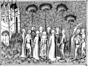 coloriage adulte medieval seigneurs