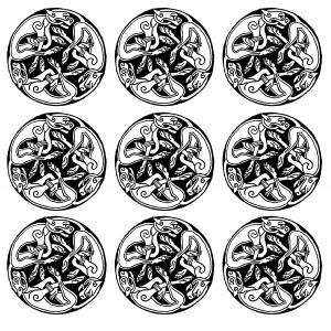 coloriage motifs medievaux gargouille