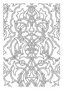 coloriage motifs medievaux
