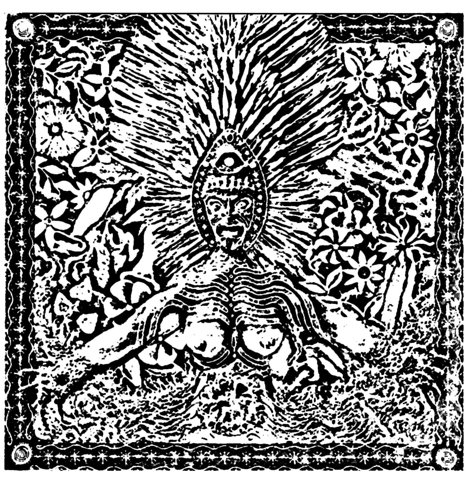 Coloriage créé à partir d'une représentation chamanique