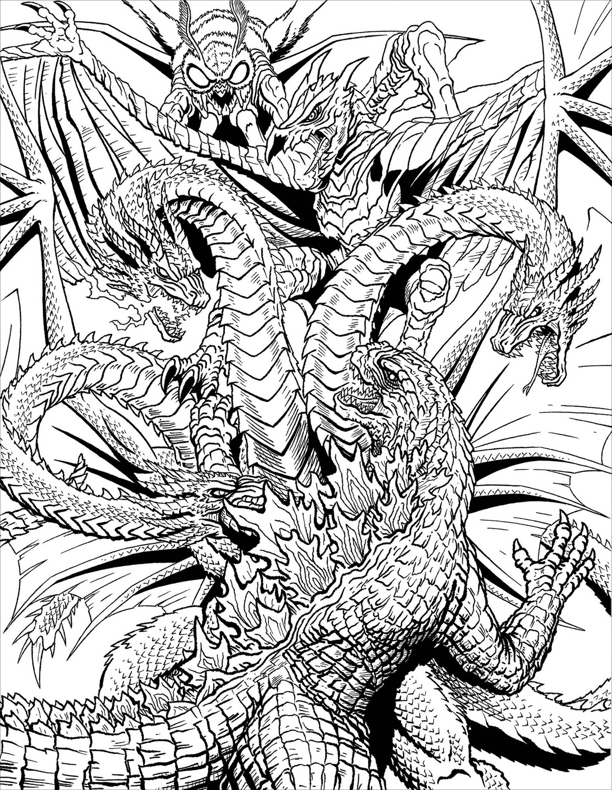 Avec ces 3 têtes, le dragon a toutes ses chances...