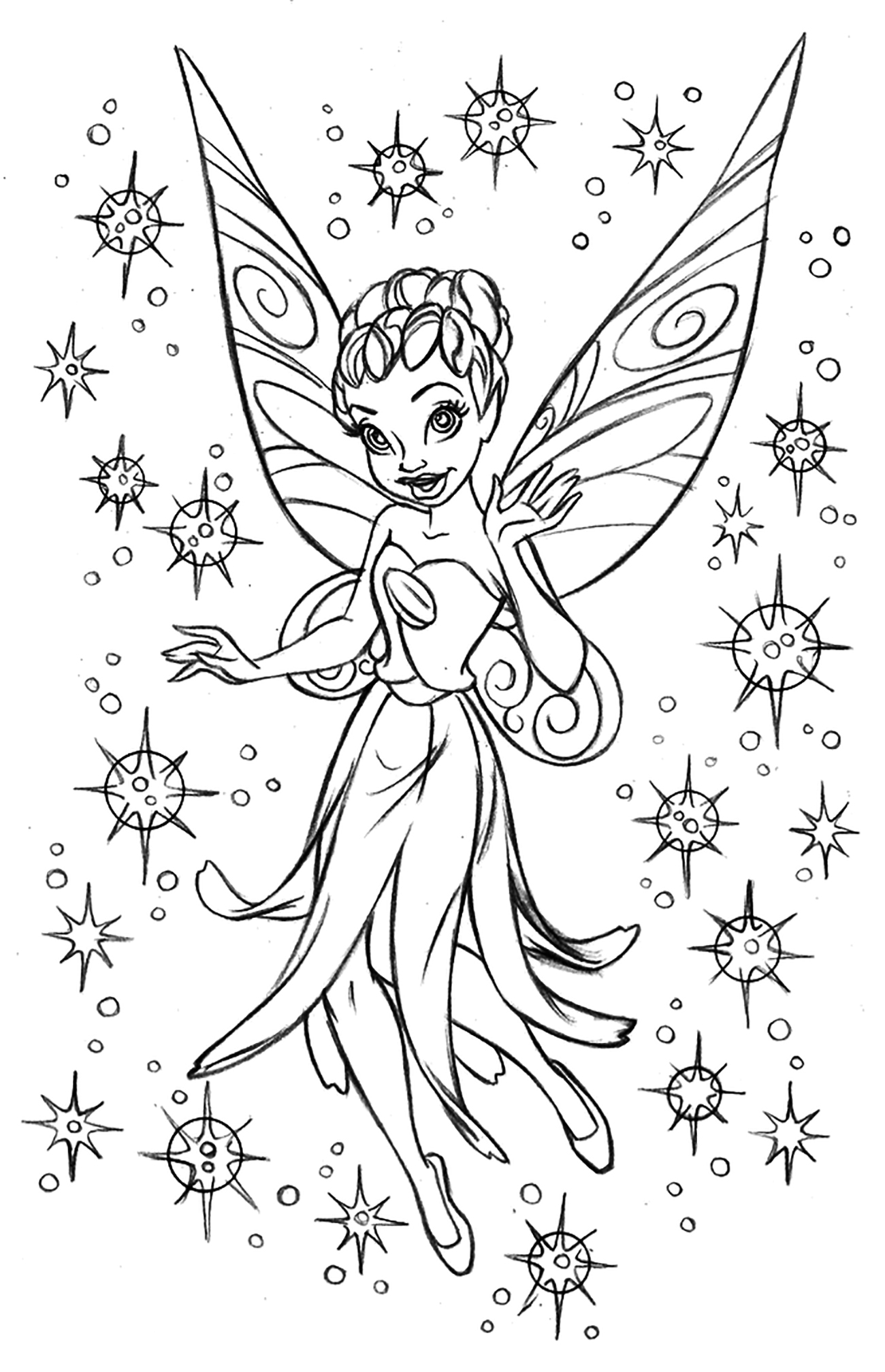 Fee clochette fan art dessin mythes et l gendes - Fee coloriage ...