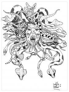 Coloriage Medusa par valentin