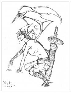 Coloriage adulte dessin Demon par valentin