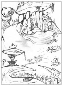 Coloriage adulte dessin Maison de troll par valentin