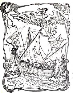 Mythes et l gendes coloriages difficiles pour adultes - Dessin de viking ...