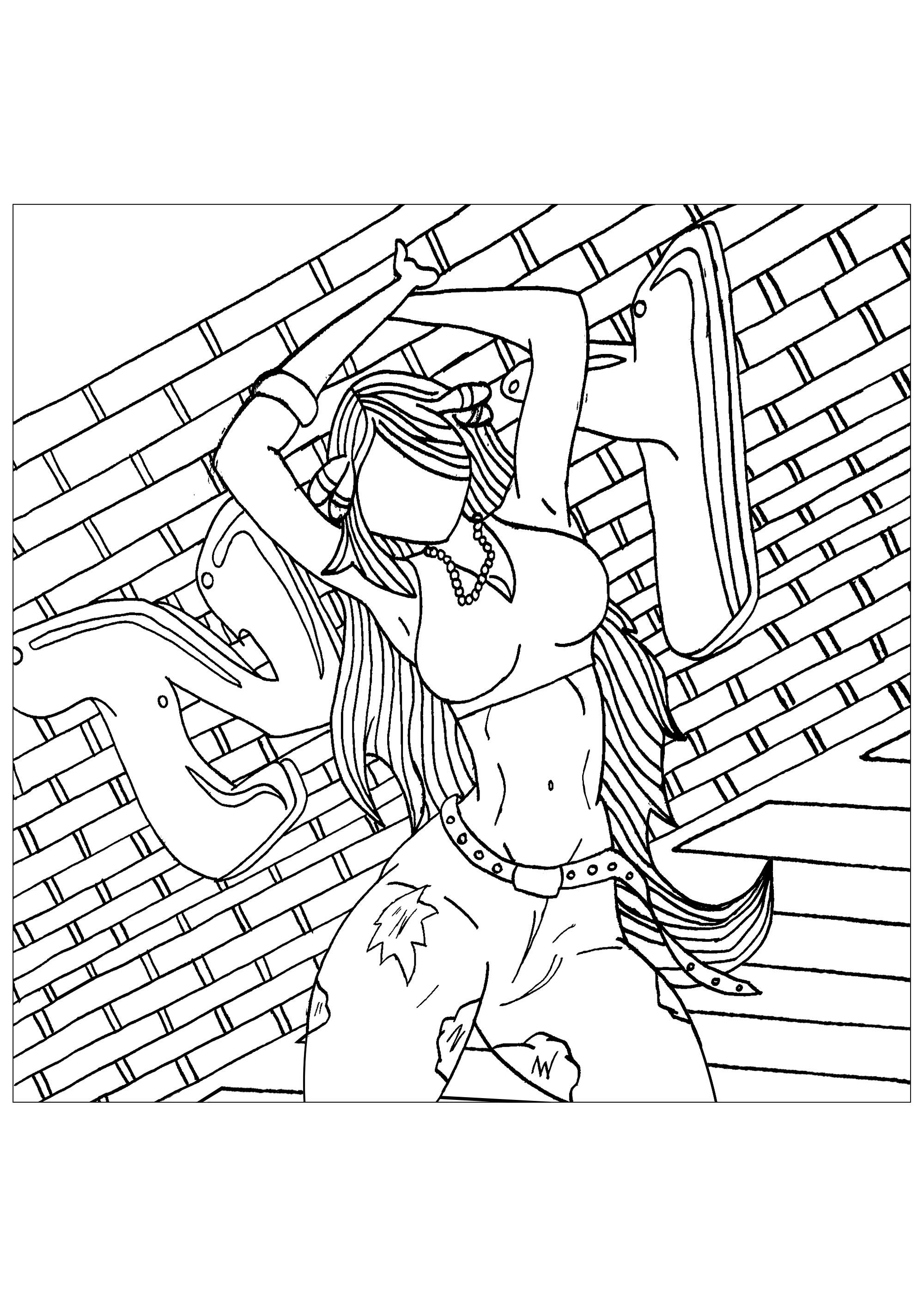 Jeune femme devant un mur avec le tag NY