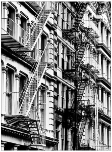 Coloriage les escaliers de china town new york