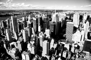 coloriage new york vue ciel