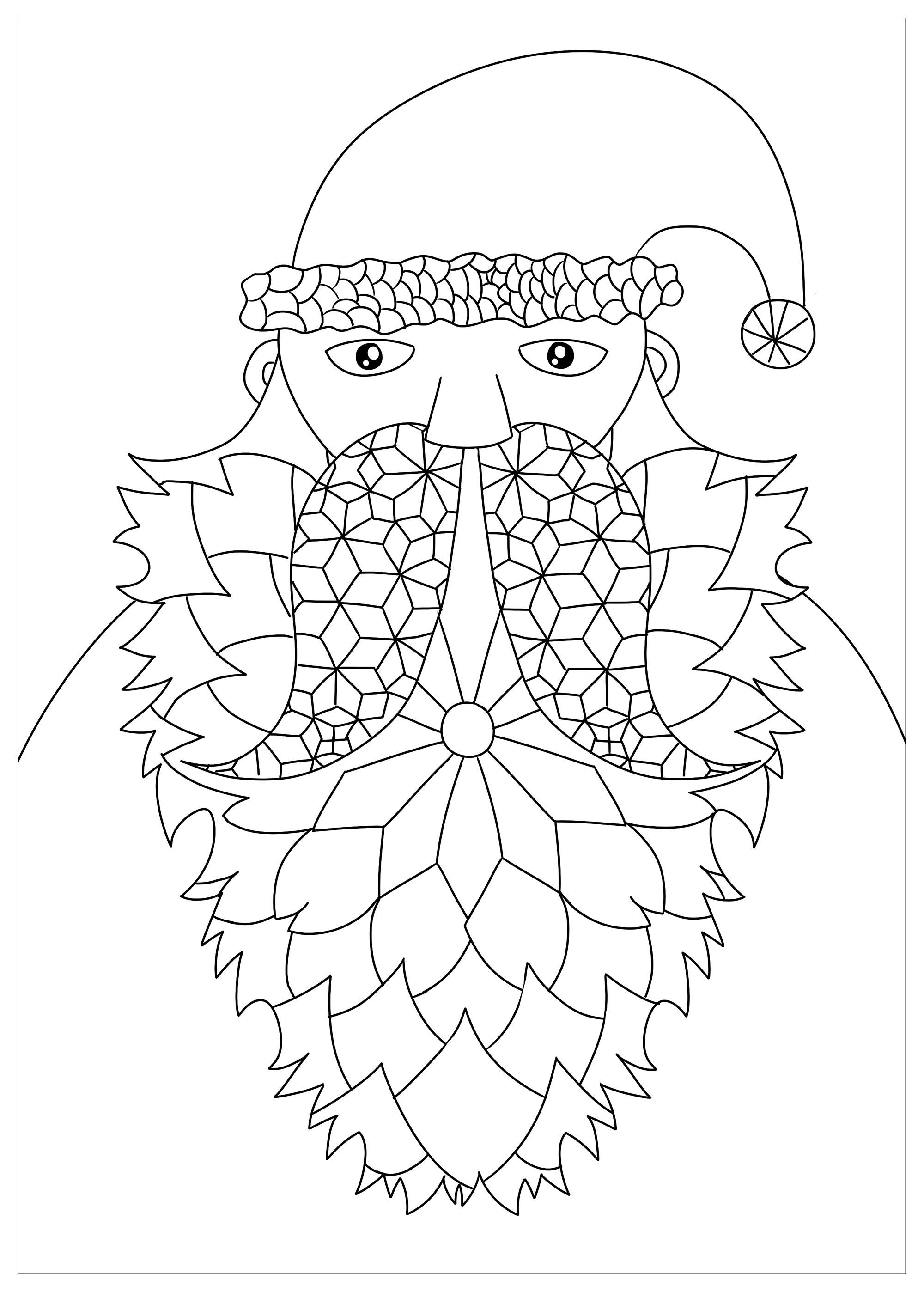 Père Noël à la jolie barbe